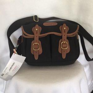 Handbags - Billingham Hadley Small Black Canvas /Tan ( NEW )